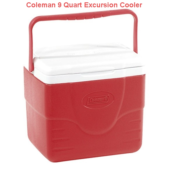 Coleman 9 Quart Excursion Cooler Red