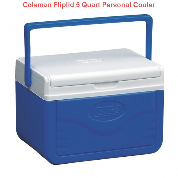 Coleman Fliplid 5 Quart Personal Cooler Blue