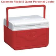 Coleman Fliplid 5 Quart Personal Cooler Red