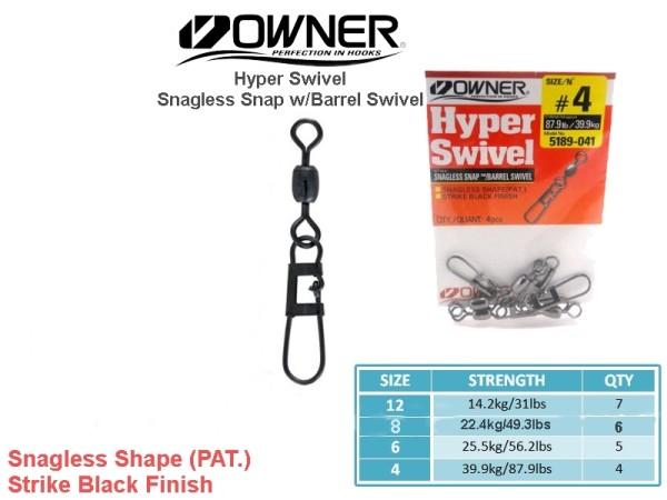 Owner hyper swivel snagless snaps