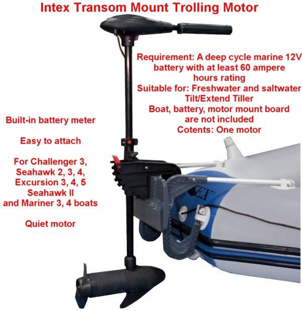 intex transom mount trolling motor