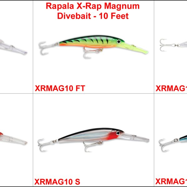 Rapala X-Rap MAgnum Divebait – 10 Feet