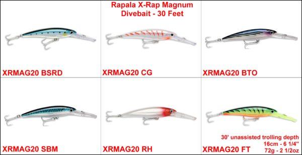 Rapala X-Rap MAgnum Divebait – 30 Feet