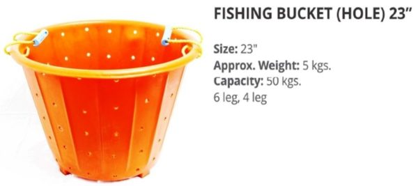 FISHING BUCKET 23 inches
