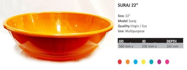 SURAJ 22 inches (Without Handles)