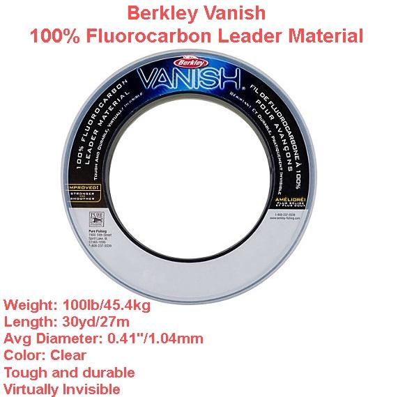 Berkley Vanish Fluoro Carbon Leader