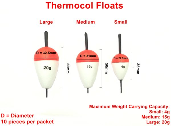 thermocol floats