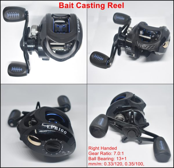 Bait Casting Reel Black