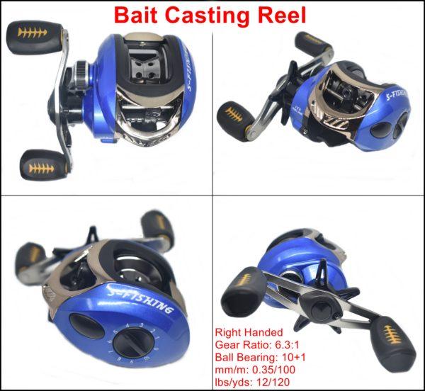 Bait Casting Reel Blue