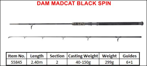 DAM Madcat Black Spin