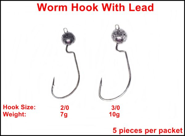 Worm Hook With Lead