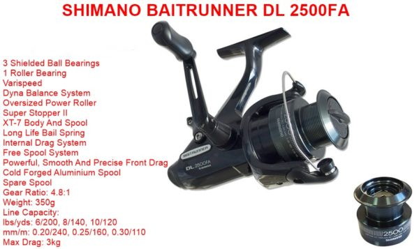 Shimano Baitrunner DL 2500 FA