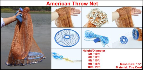 American Throw Net (Tire Cord)